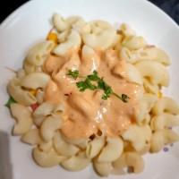 Pink sauce pasta: Middle East cuisine