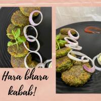 Hara bhara kabab-treat for vegetarians!